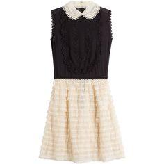 R.E.D. Valentino Silk Dress (4 670 SEK) ❤ liked on Polyvore featuring dresses, mini dress, short dresses, multicolored, pink dress, pink ruffle dress, pink mini dress and silk dress