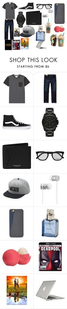 """""""Zachary"""" by mackenzie-l-k ❤ liked on Polyvore featuring Billabong, Hollister Co., Vans, Michael Kors, Yves Saint Laurent, Beats by Dr. Dre, FOSSIL, Calvin Klein, Eos and Speck"""