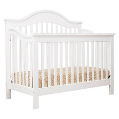 DaVinci Jayden 4-in-1 Convertible Crib with Toddler Rail -  White; full size bed conversion kit sold separately