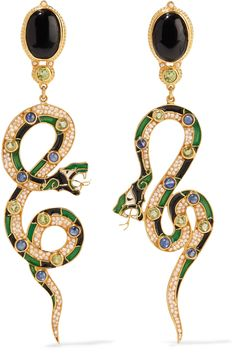PERCOSSI PAPI Gold-plated multi-stone earrings€1,150