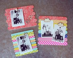 eighteen25: Popsicle Stick Frames with Washi Tape kids craft crafts photo frame