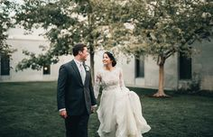Modest wedding dress with long   sleeves from alta moda. -- (modest bridal gown) . photo by alice cannon