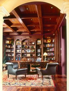 Image of: home library office decorating ideas awesome home office library design ideas gallery interior Home Library Design, Home Office Design, House Design, Library Ideas, Office Decor, Office Ideas, Interior Office, Library Images, Traditional Home Offices