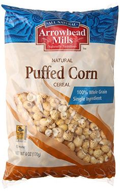 Arrowhead Mills Puffed Corn Cereal 6 Ounce * You can find out more details at the link of the image. (This is an affiliate link and I receive a commission for the sales)