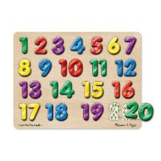 Melissa & Doug Spanish Numbers Sound Puzzle: Toys & Games