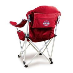 Outdoor Picnic Time Detroit Pistons Reclining Camp Chair, Red