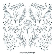 Hand Embroidery Designs, Embroidery Art, Cross Stitch Embroidery, Embroidery Patterns, Botanical Line Drawing, Floral Drawing, Bullet Journal Ideas Pages, Bullet Journal Inspiration, Doodle Drawings