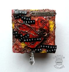 Bleed Out Your Heart Canvas - Gauche Alchemy - Scrapbook.com