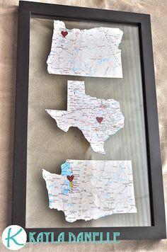 Pinterest Challenge: Map Art   Kayla Danelle
