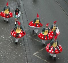 Mainz Fastnacht elf and mushroom costumes