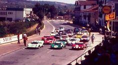 1968, Vila Real. Primeira linha compartilhada entre um Ford GT40, um Lola T70 e Ferrari P3 / 4.