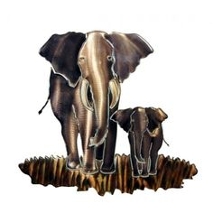 Elephant Metal Wall Sculpture by Next Innovations