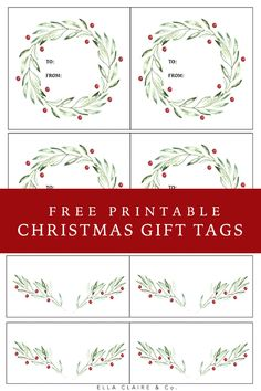 Gift Wrapping simple and elegant free printable Christmas gift tags for all of those holiday gifts this season.simple and elegant free printable Christmas gift tags for all of those holiday gifts this season. Free Printable Christmas Gift Tags, Christmas Labels, Holiday Gift Tags, Christmas Gift Wrapping, Free Printable Tags, Diy Christmas, Xmas, Simple, Medical Terminology