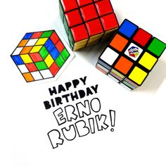 Happy Birthday to Erno Rubik ! - inventor of the Rubik's Cube :) #rubikscube
