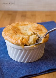 Chicken Pot Pie with Butternut Squash and Bacon - Savory Simple