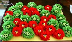 Angry Bird Pom  Lesson Plan: Learn new skill how to make a pom pom. Add angry eyes and identify a trigger.  Next make King Pig and id/write a coping skill for trigger.  Use sensory pom poms to calm down.