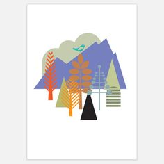 """Literally - it's a print called """"Norwegian Wood""""!    Norwegian Wood now featured on Fab."""