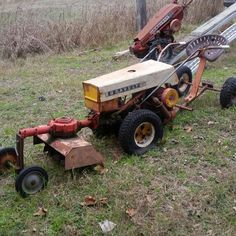 C10 A Gravely tractor with tiller attachment