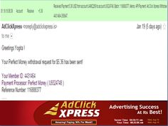 """INCOME JUST BY WATCHING ADS AND POSTING """"I WORK FROM HOME less than 10 minutes and I manage to cover my LOW SALARY INCOME. If you are a PASSIVE INCOME SEEKER, then AdClickXpress (Ad Click Xpress) is the best ONLINE OPPORTUNITY for you  And many more earnings with AdclickXpress like  GET RICH POSTING YOUR PAYOUT PROOFS AND GET REWARDS... For more details dial +917814549263 To join Click the given link :-  http://www.adclickxpress.com/?r=5h8vqhabpgph&p=mx"""