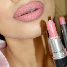 "I am in love with @maccosmetics ""Angel"" lipstick. I have it on with ""Soar"" lipliner."