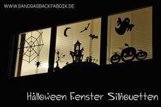 Halloween Window Silhouette / Fensterbild / Fensterdekoration / http://sandrasbackfabrik.de/halloween-fenster-silhouetten/