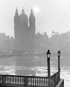 """ St. Nicolaaschurch "" Amsterdam, 1955. Kees Scherer"