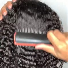 Shop the Denman brush for defined curls Comb For Curly Hair, Curly Hair Care, Curly Hair Styles, Natural Hair Styles, Denman Brush, Natural Hair Brush, Styling Brush, Pelo Afro, Coily Hair