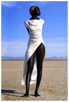 Alek Wek by Herb Ritts for Vogue Paris April 1999