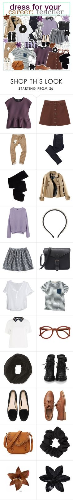 """☼; dress for your career: teacher"" by ocean-clique-xo ❤ liked on Polyvore featuring H&M, Monki, Williamsburg Garment Company, C.R.A.F.T., Trasparenze, N°21, American Vintage, Sportmax, Aéropostale and Zara"