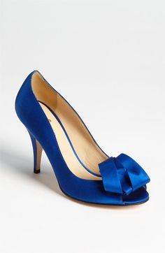 Something blue. Something new! Kate Spade 'clarice' Peep Toe in Cobalt #Nordstrom #Wedding