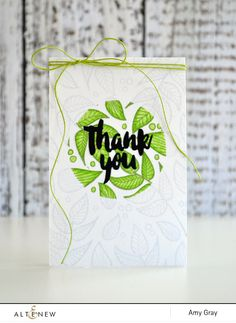 Thank you by @aimesgray featuring the double making technique using @Altenew stamps & dies  #stamping #diecut #diecutting #masking #doublemasking #thanks #thankyou #thankyoucard #leaves