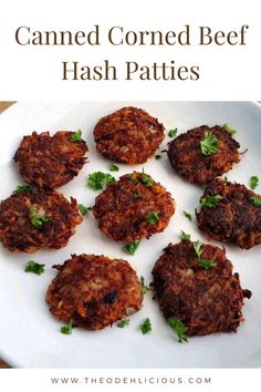 Corned Beef Hash Patties is a delicious appetizer which is mixed with canned corn beef, carrots, potatoes and egg to form into a patties. Corned Beef Hash Patties Recipe, Corned Beef Hash Canned, Hash Recipe, Corned Beef Recipes, Beef Recipes For Dinner, Pork Recipes, Corned Beef Fritters, Pressure Cooker Curry, Easy Bbq Chicken