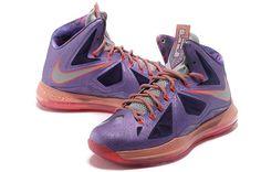 quality design 8837e 927af Nike Lebron 10 All Star Galaxy Shoes Laser Purple Strata Grey Total Crimson