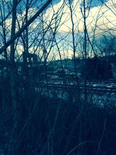 I love railroad tracks.