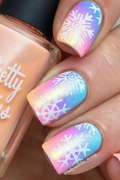 $3.99 - Nail Art Stamp plate Christmas nail gift for her Let it Snow #Winternails #Christmasnails #Rainbownails #snowflakenails #nailart #afflink #ad #mountainsandmosslife