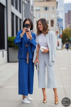 Eva Chen and Aimee Song Street Style Street Fashion Streetsnaps by STYLEDUMONDE Street Style Fashion Photography