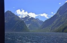 Amid green folds; Milford Sound; Fjordland National Park, South Island, New Zealand.  January 2014.