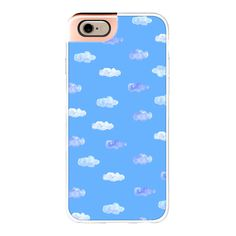 Blue Cloud on blue sky watercolor case by imushstore - iPhone 7 Case,... ($40) ❤ liked on Polyvore featuring accessories, tech accessories, iphone case, blue iphone case, iphone cases, apple iphone case and iphone cover case