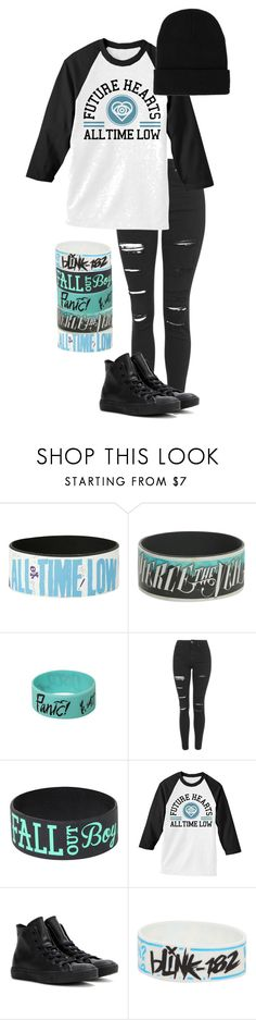 """missing you//all time low"" by bands-are-my-savior ❤ liked on Polyvore featuring Topshop, Converse and Blink"