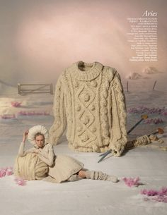 """""""Star Signs"""": Siri Tollerod Does the Horoscope Shot by Tim Gutt, Set Styling by Shona Heath"""