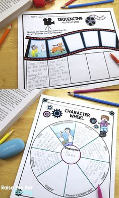 60 Graphic Organizers for Reading Fiction and Literature! Perfect for fiction reading comprehension grades 1-6. Common Core aligned. Some of the topics include setting, sequencing, character traits, compare and contrast, dialogue, and many more! Reading Comprehension Grade 1, 5th Grade Reading, Reading Strategies, Reading Activities, Reading Skills, Teaching Reading, Library Skills, Middle School Reading, Vocabulary Strategies