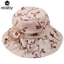 REALBY Summer Beach Hats For Women Elegant Wide Brim Chapeu depraia  Feminino Travel Outdoors Cap Sombreros Mujer Verano Panama(China (Mainland)) c29fd82de90
