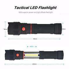 FlashightKwok COB LED Magnetic END Black Work Light Inspection Flashlight 1200LM Lamp Torch -- More info could be found at the image url. Note:It is Affiliate Link to Amazon.