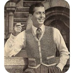 Sport Pullover Knitting Pattern Knitted Mens Sweater Vest pdf ...