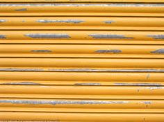 Yellow metal corrugated