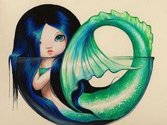 Little Dish Mermaid - by Nico Niemi from mermaids