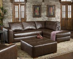 Modern Brown Leather Sectional by Albany Furniture BLOWOUT SALE!