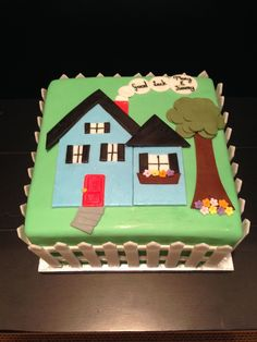 Cakes Ideas Incredible Decoration Housewarming Cake Ideas Dazzling Best 25 On Special Birthday Cakes, Adult Birthday Cakes, Cake Birthday, Cake Decorating Supplies, Cake Decorating Tutorials, Decorating Ideas, Welcome Home Cakes, Housewarming Cake, House Cake