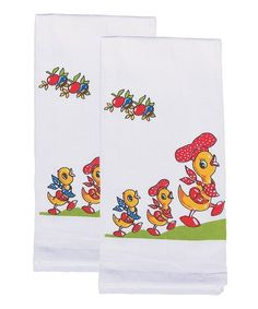 Another great find on #zulily! Happy Quack Flour Sack Towel - Set of Two #zulilyfinds