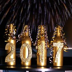 After Christmas, you might be ready for a break from complicated DIY projects, but you still want something to brighten up that New Year's Eve party. This cute wine bottle craft is a quick and easy one that will look great but won't take much time so you can relax after eating all those Christmas co...